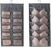 Closet Hanging Organizer with Mesh Pockets &
