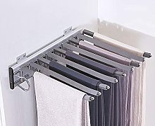 Closet Pull Out Trouser Hanger Rack with 9 Bars