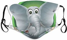 Cloth Mouth & Nose Shield,Humorous Elephant