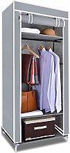 Clothes Hanging Canvas Single Wardrobe Cabinet