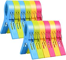 Clothespins, 12pcs Beach Towel Clips, Windshield