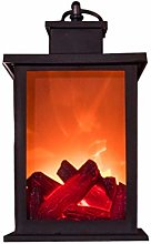 Cloud LED Fireplace Lamp with Flame Effect Battery