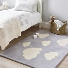 Cloud Tufted Rug, Cool Grey, One Size