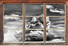 Cloudy Sky Covering Sun Wall Sticker East Urban