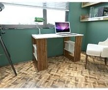 Clove Desk - with Shelves - for Office, Bedroom -