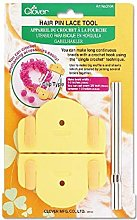 clover Hair Pin Lace Tool, Yellow, 1