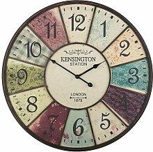 Clovis 59cm Silent Wall Clock Borough Wharf