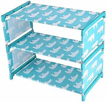 CLQ Shoe Cabinet with 3 Shelves, Space-Saving,