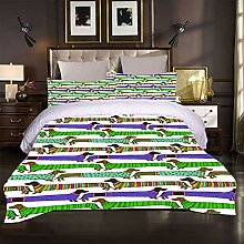 CLQPYQ Bedding Quilt Cover 3 Pieces Colorful