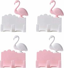 CLQya Creative Hook Set Flamingo Free Punching No