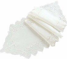 CLQya Modern Minimalist Linen Cotton Lace Runner
