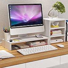 CLQya Monitor Stand,Desk Shelf Organizer Space