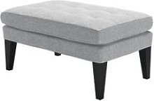 Club Small Rectangular Footstool in White Cliffs