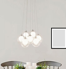 Cluster LED Ball 7 Pendant Light In Chrome With