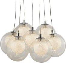 Cluster LED hanging light, seven-bulb