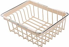 CMING Expandable Dish Rack Kitchen Storage Basket