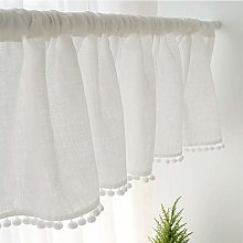 CMJM Cafe Curtains White Pastoral Fresh Style