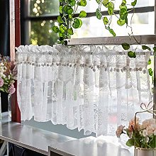 CMJM Café Net Curtain in White American Lace