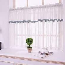 CMJM Short Tier Curtains White Cafe Net Curtains