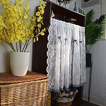 CMJM White Café Net Curtain Short Curtain Valance