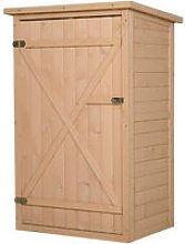 cmOutsunny Fir Wood Compact Storage Shed w/ 2