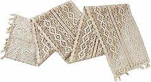 Cngstar Handmade Cotton Crochet Table Runner With