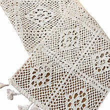 Cngstar Macrame Table Runner Cotton Crochet Lace