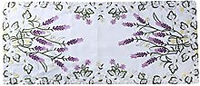 Cngstar Pastoral Style Lavender Embroidered Lace
