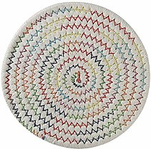 Cngstar Round Cotton Braided Table Place Mats