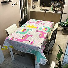 CNNINHAO 3D Pattern Tablecloth, Dustproof Washable