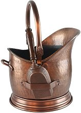 Coal Scuttle Bucket Hod & Shovel Antique Copper