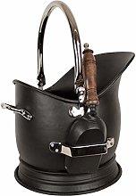 Coal Scuttle Bucket Hod & Shovel Black Nickel
