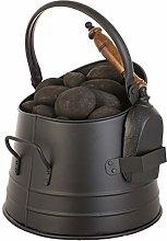 Coal Scuttle Bucket Silver Fireside Fuel Basket