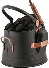 Coal Scuttle Bucket with Shovel Fireplace