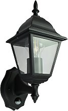 Coast Classic 4 Panel PIR Lantern - Black