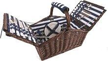 Coastal 4 Person Picnic Basket Set Summerhouse