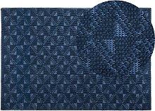 Coastal Living Room Area Rug Wool Polyester 140 x