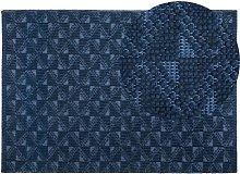 Coastal Living Room Area Rug Wool Polyester 160 x