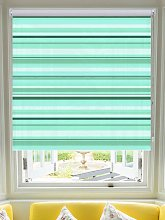 Coastal Stripe Ocean Roller Blind