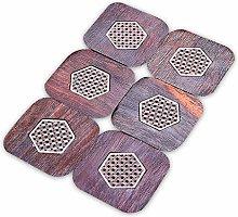Coasters for Drinks Ebony Coaster Insulation Mat