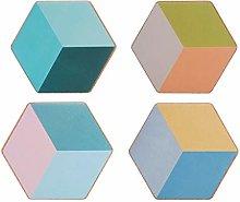 Coasters for Drinks Geometric Diamond Cork Coaster