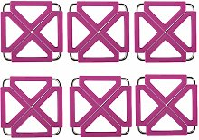 Coasters for Drinks Kitchen Silicone & Stainless