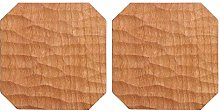 Coasters for Drinks Natural Cherry Wood Coasters