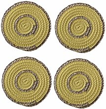 Coasters Set of 4 Round Woven Placemats 18cm Round