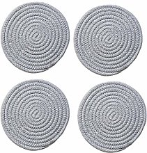 Coasters Set of 4 Round Woven Placemats Non Slip