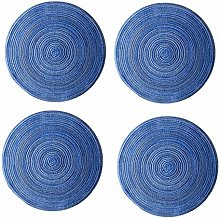 Coasters Set of 4 Round Woven Placemats Round Non