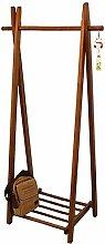 Coat Rack Clothing Wardrobe Wood Railing Shoe Rack