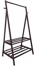 Coat Rack Shelf Multi-Function Wood 2 Layer 2