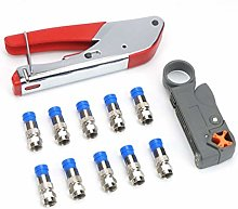 Coaxial Cable Crimping Tool Set Squeezing