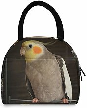 Cockatiel Parrot Bird Portable Lunch Bag Insulated